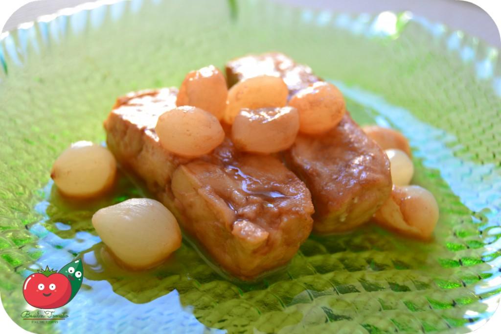 Filetti di merluzzo con le cipolline