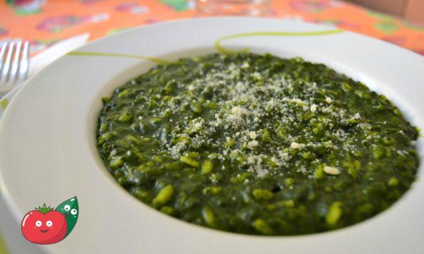 Risotto agli spinaci e zafferano
