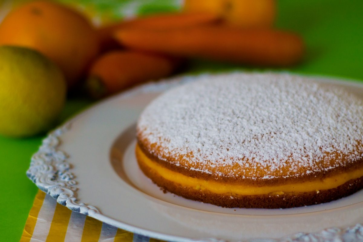 TORTA PARADISO ACE, arancia carote e limone