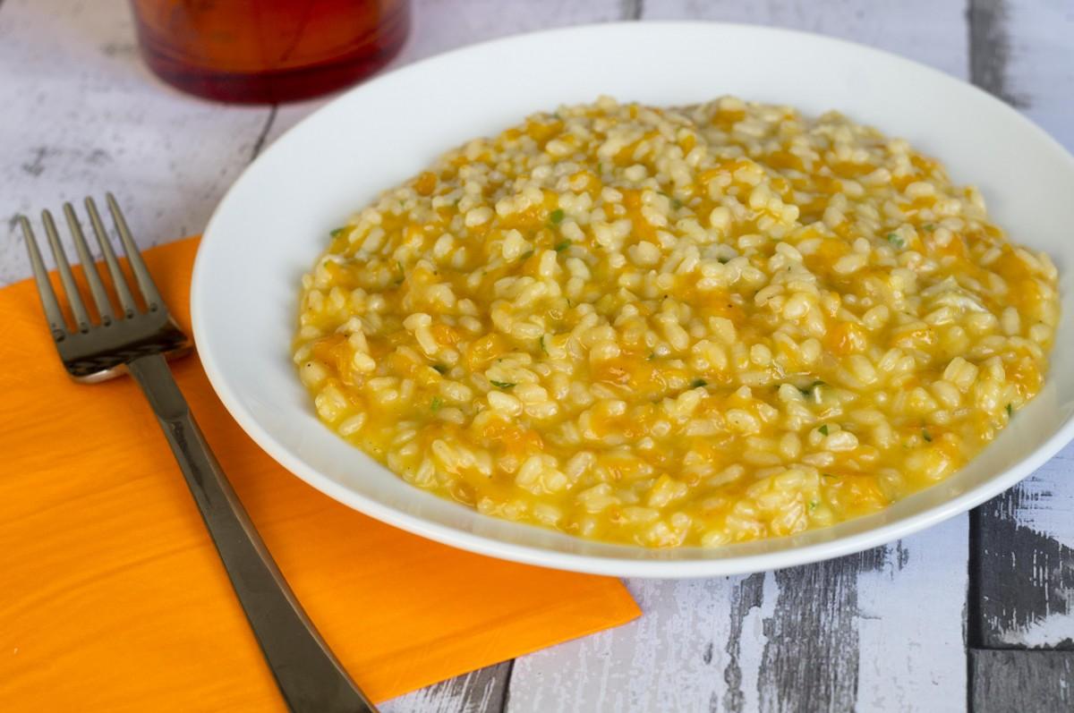 risotto con zucca e gorgonzola dolce