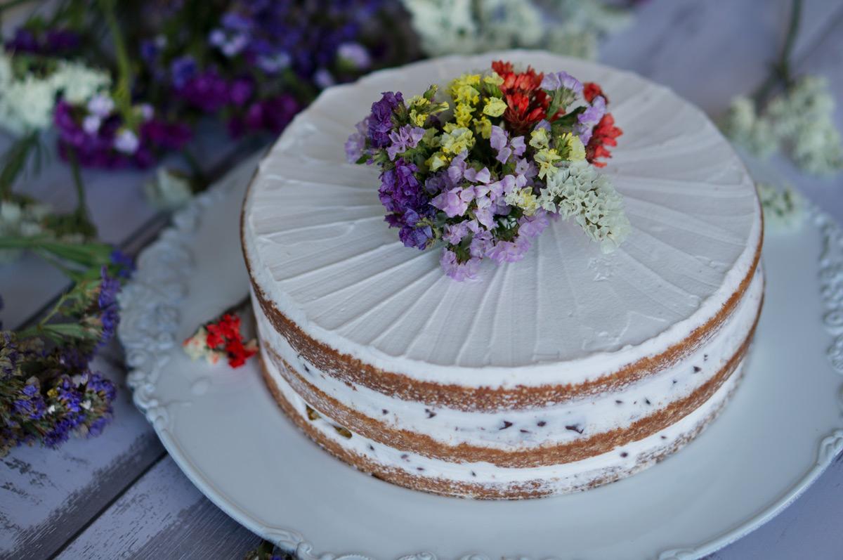 naked cake ricotta e cioccolato