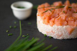 riso con salmone e robiola