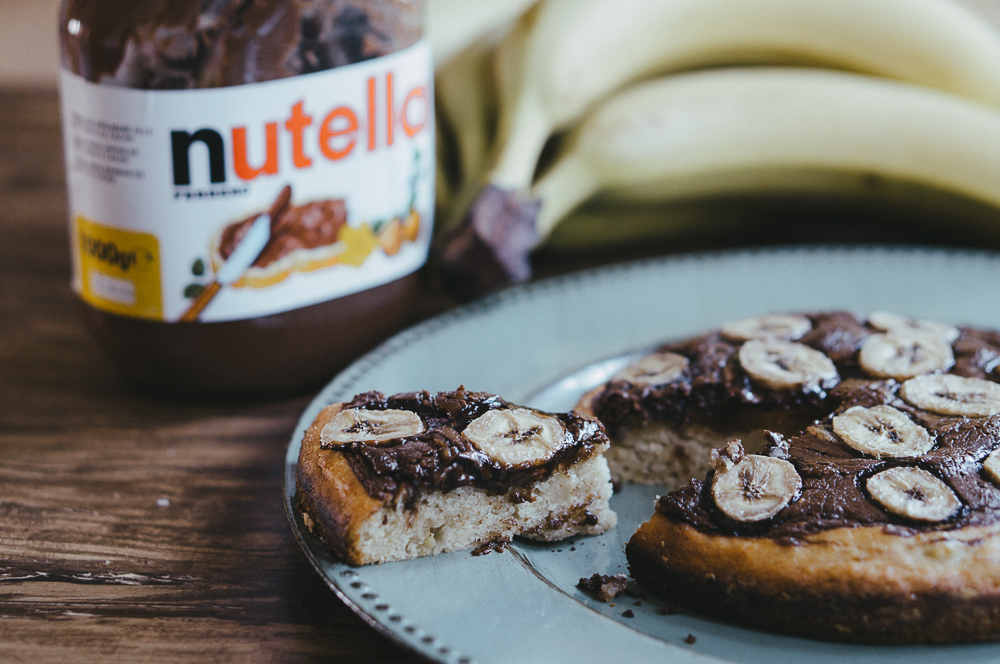Torta Banana e Nutella, Senza Uova e Burro