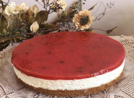 • Cheesecake all'anguria senza colla di pesce•