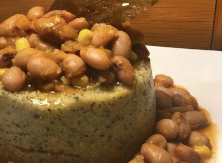 Fagioli alla messicana (versione vegana) con polenta Taragna