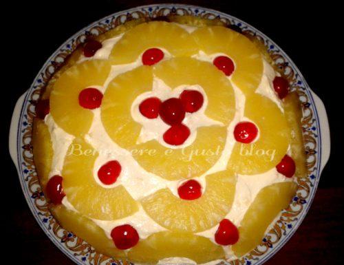 Torta ananas e crema pasticcera