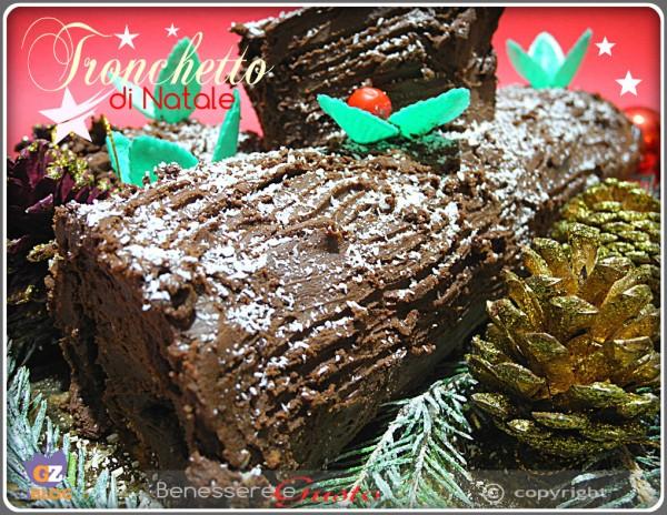 Tronchetto di Natale con mousse alla nutella