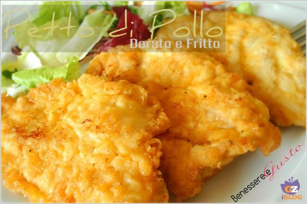 Petto di pollo dorato e fritto