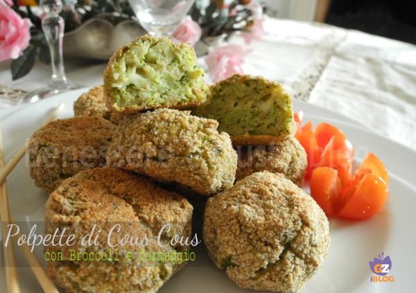 polpette di cous cous con broccoli e formaggio