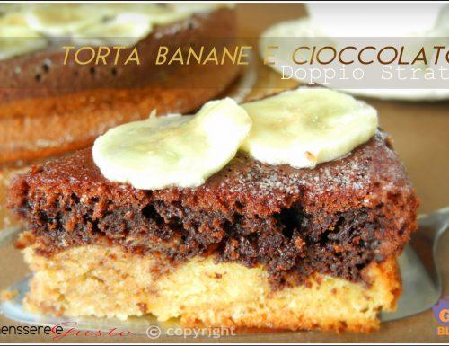 Torta banane e cioccolato doppio strato