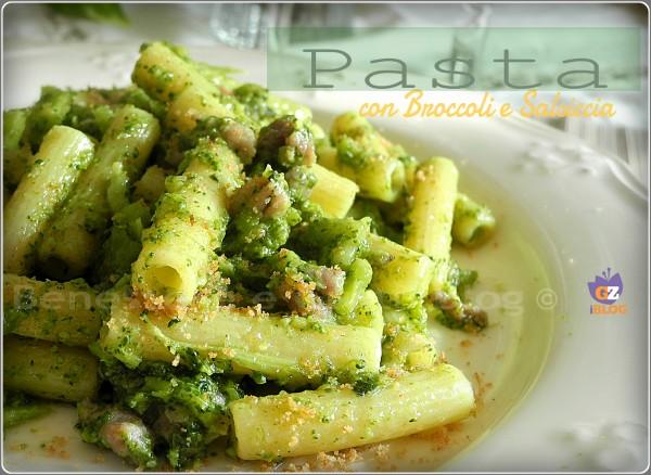 con broccoli e salsiccia benessere e gusto blog pasta con broccoli e ...