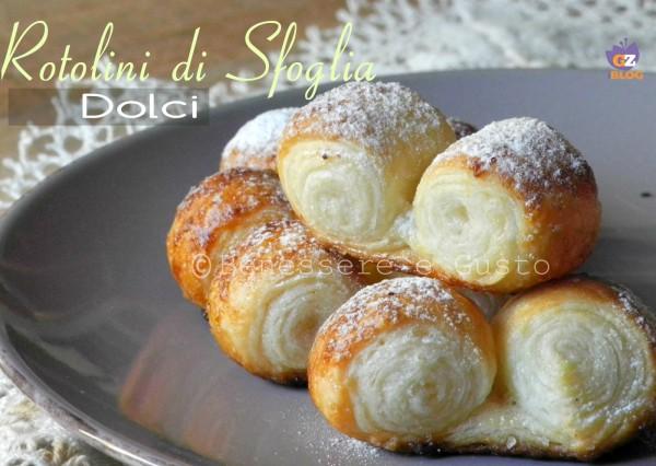 Rotolini di Pasta Sfoglia dolci