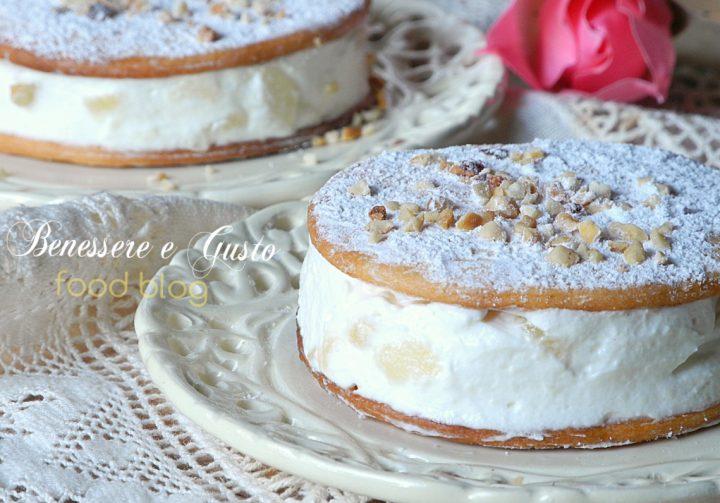 torta ricotta e pere mignon
