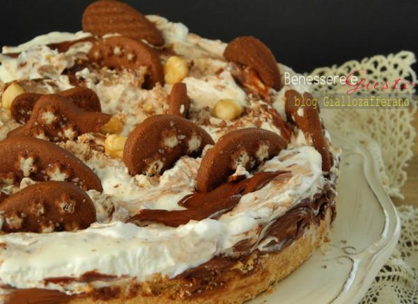 Torta Gelato variegata Nutella e Panna
