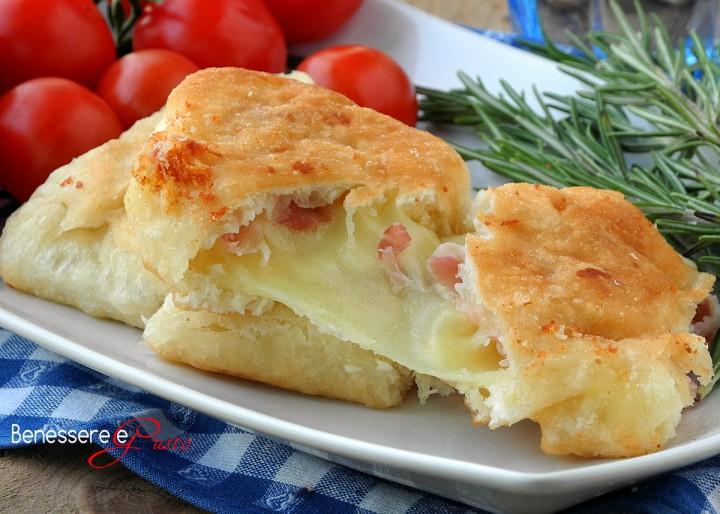 Calzone con formaggio e prosciutto