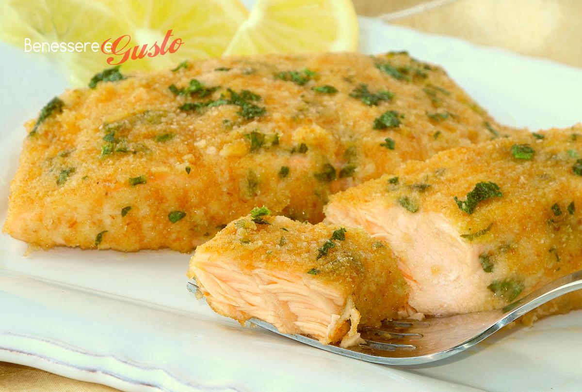 Conosciuto Salmone gratinato al forno secondo piatto veloce HD01