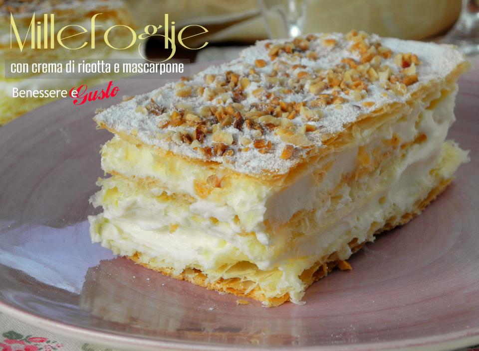 millefoglie con crema di ricotta e mascarpone dessert veloce