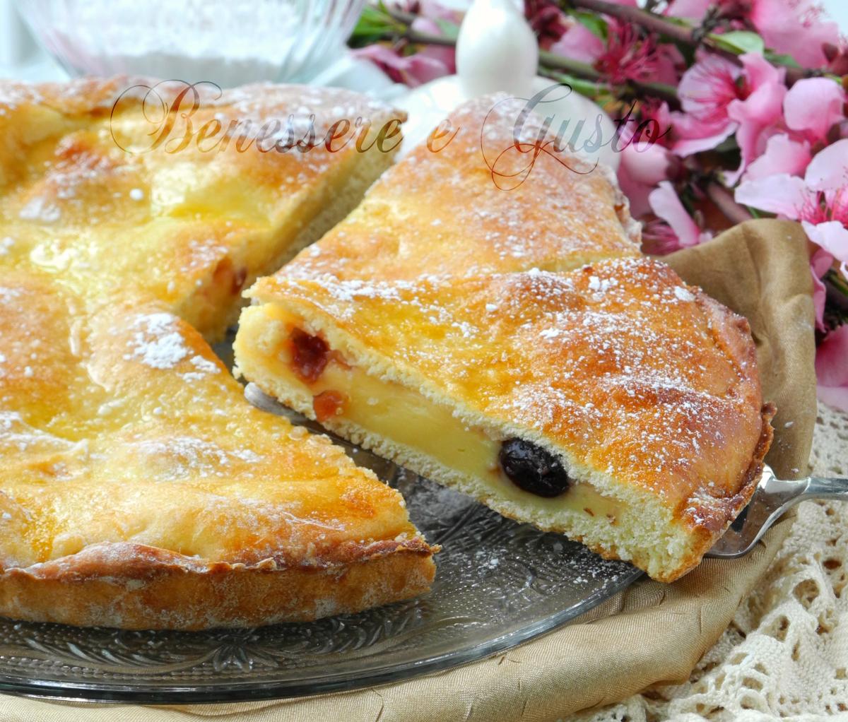 Torta polacca aversana ricetta con crema pasticcera e amarene for Siti ricette dolci