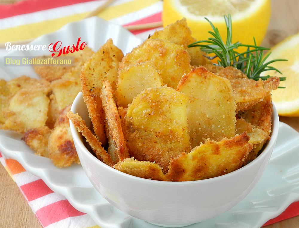 Chips di patate al forno croccanti al limone for Ricette cibo