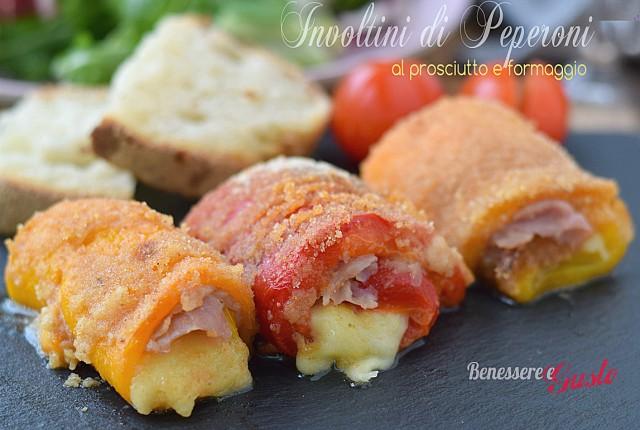 Involtini di peperoni prosciutto e formaggio