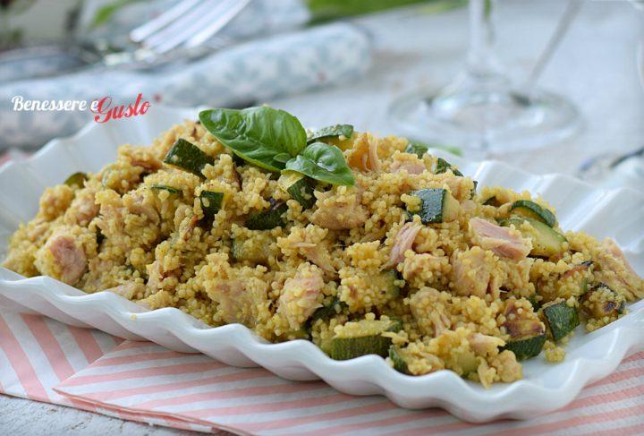 Cous cous zucchine e tonno