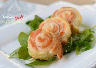 Rotolini di salmone in pasta sfoglia