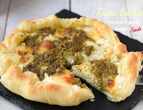 TORTA SALATA RICOTTA E PESTO