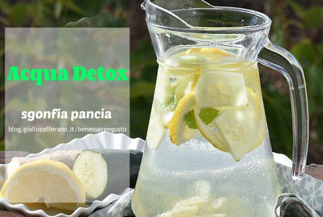 Acqua detox zenzero e limone