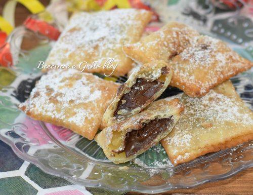 RAVIOLI DOLCI ALLA NUTELLA dolcetti di carnevale