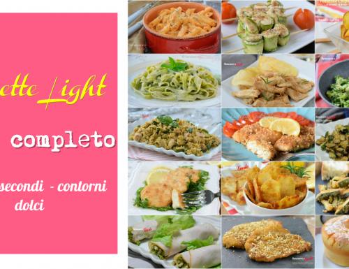 RICETTE LIGHT menù completo