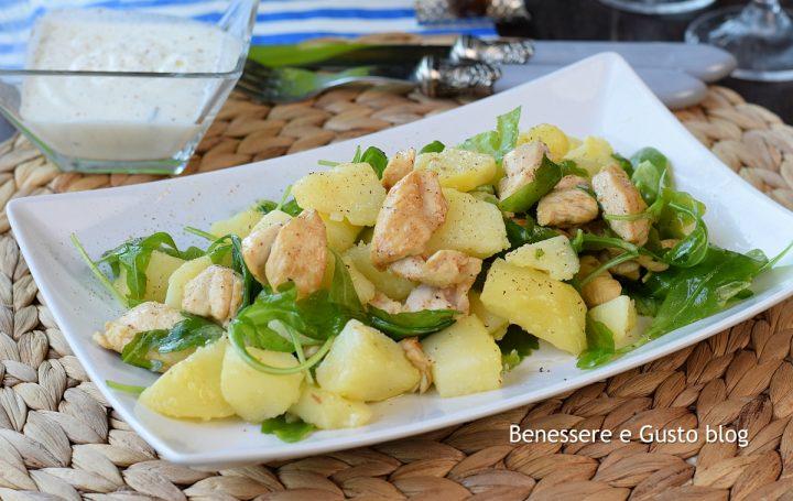 insalata di pollo patate e rucola