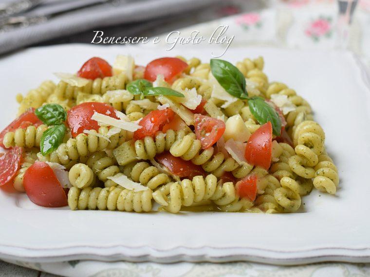 insalata di pasta al pesto