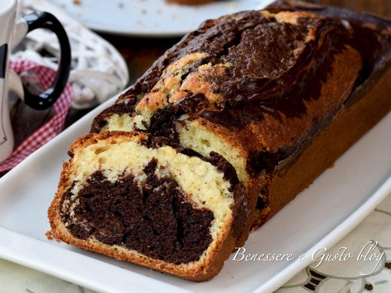 plumcake bicolore alla panna