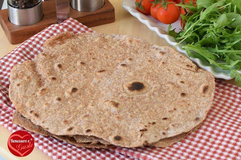 PIADINE INTEGRALI ricetta senza strutto