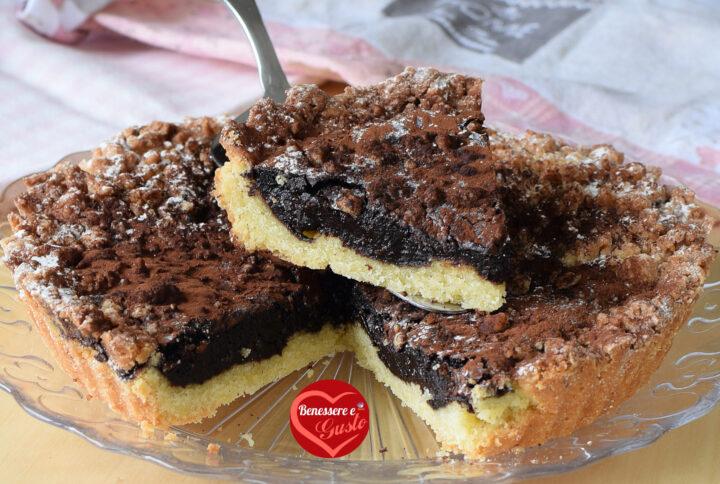 Crostata sbriciolata al cioccolato