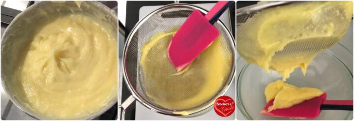 come eliminare i grumi alla crema pasticcera