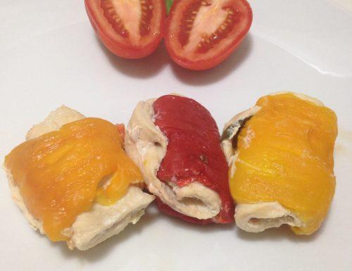 Involtini di pollo e peperoni