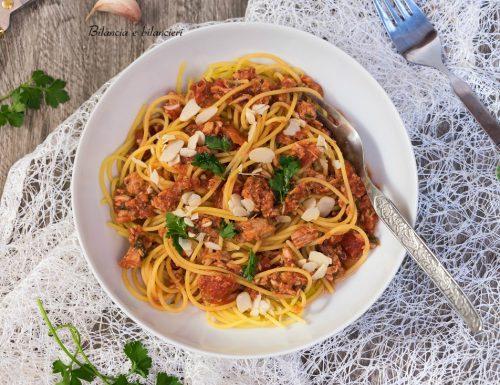 Spaghetti di mais e riso al tonno