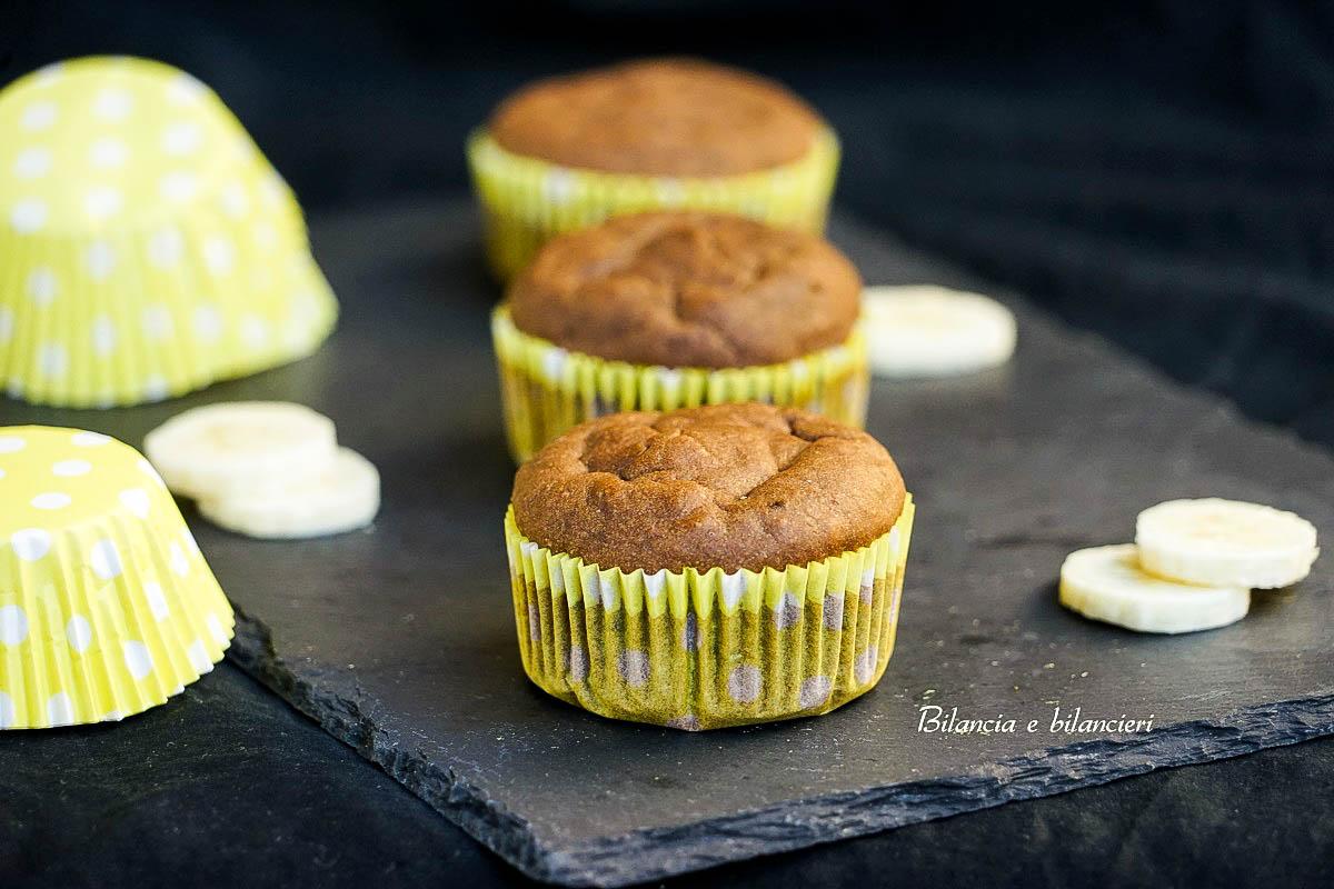 Muffin di banana alla carruba