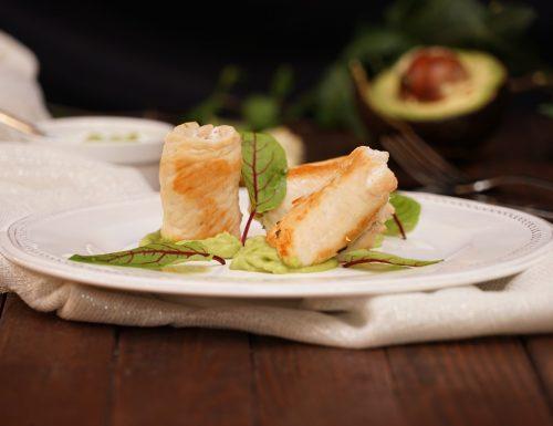 Involtini di pollo con maionese di avocado