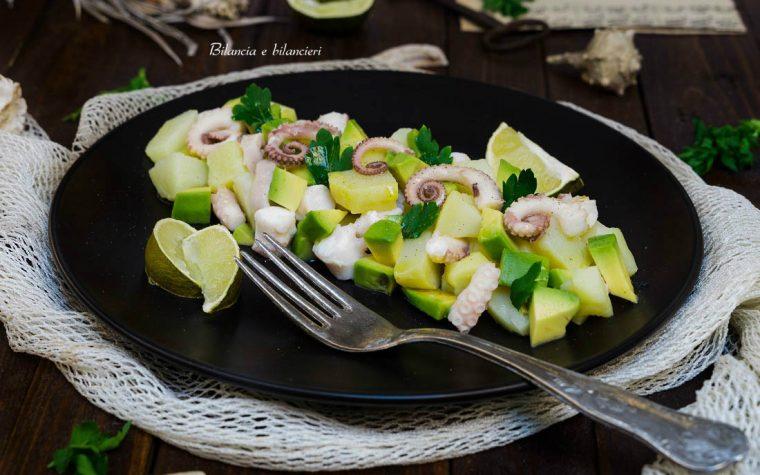 Insalata di polpo patate e avocado al succo di lime