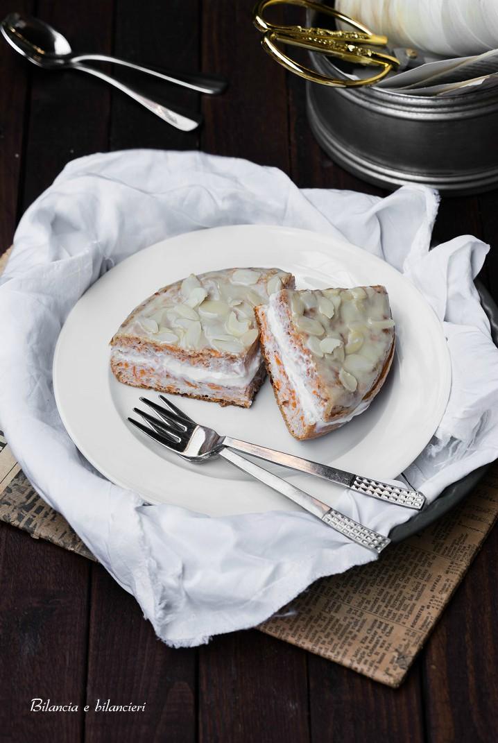 Tortina Pancake con Carote e Mandorle