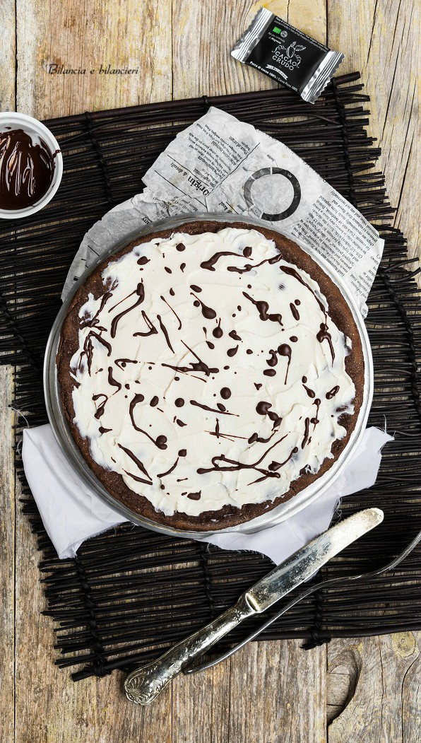 Pizza dolce in padella con yogurt e pasta di cacao