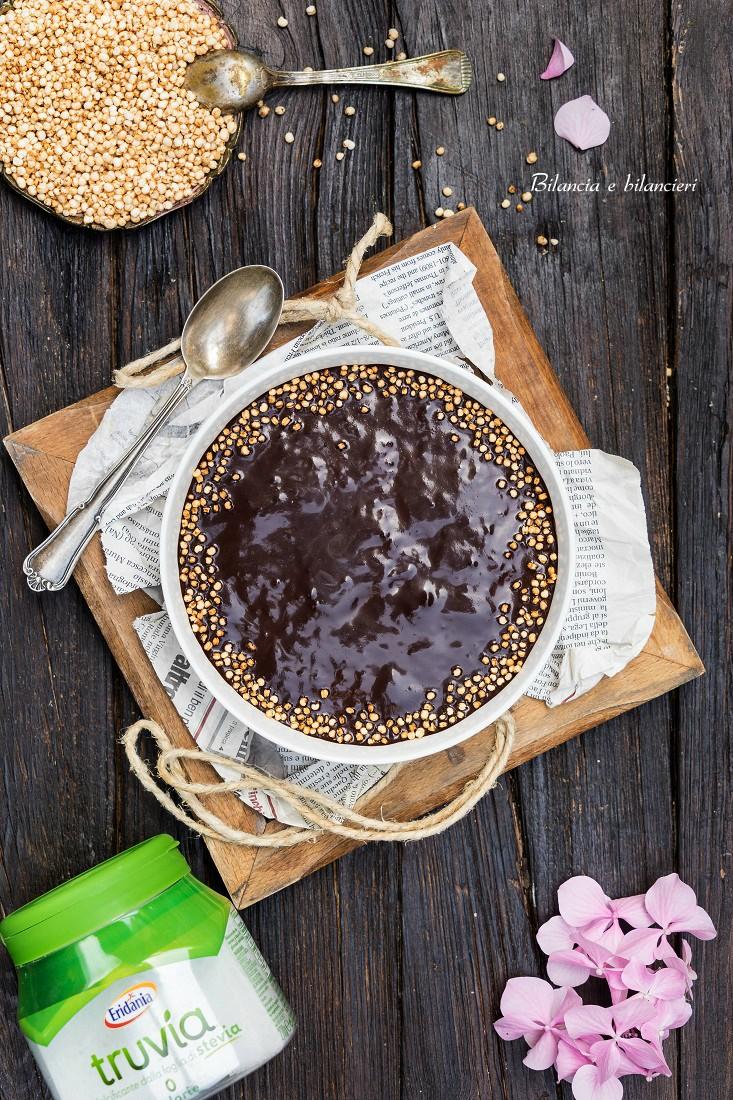 Semolino Freddo con Quinoa Soffiata e Crema di Cacao