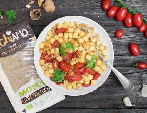 Gnocchetti ai pomodorini confit Veghiamo Mopur con tartufo e noci