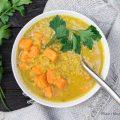 Zuppa di lenticchie rosse e patate dolci