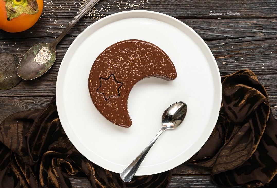 Budino di cachi al cacao e semi di chia