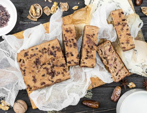 Pane ai datteri con noci e granella di cacao crudo