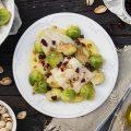 Filetti di merluzzo con cavoletti di Bruxelles e patate