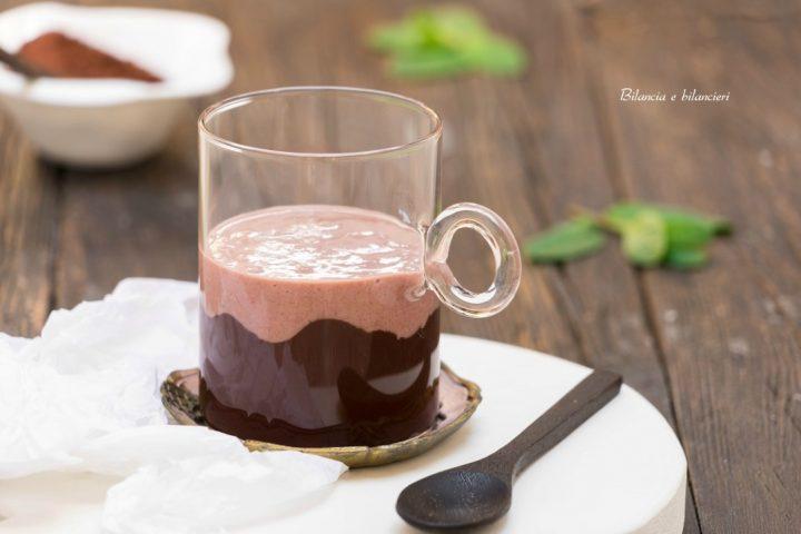 Smoothie purple di banana al cioccolato
